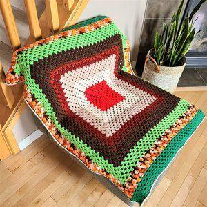 Hand Made Crochet Throw Afghan Blanket.